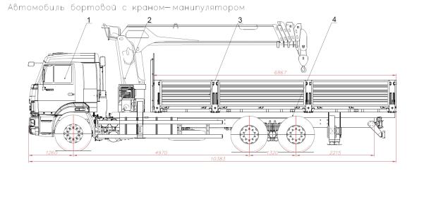 Бортовой КамАЗ 65117-3010-50 с КМУ